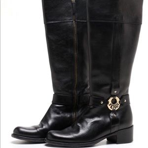Sz 36 knee high leather riding style boots